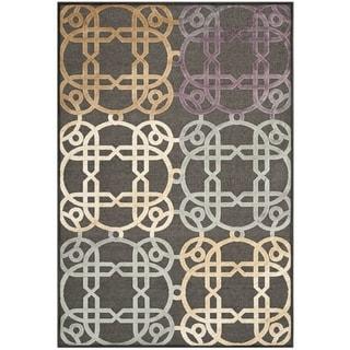 Safavieh Paradise Charcoal Grey Geometric Rug (5'3 x 7'6)