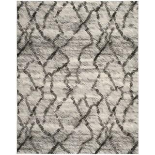 Safavieh Retro Light Grey/ Black Rug (5' x 8')