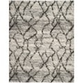 Safavieh Retro Light Grey/ Black Rug (5' x 8')