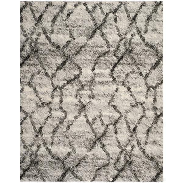 Safavieh Retro Light Grey/ Black Rug (8' x 10')