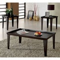 'Yenes' 3-piece Contemporary Espresso Finished Coffee/ End Table Set