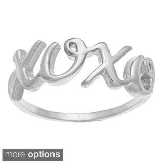 La Preciosa Sterling Silver 'XOXO' Ring