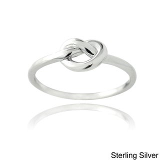 Mondevio Silver Polished Love Knot Ring