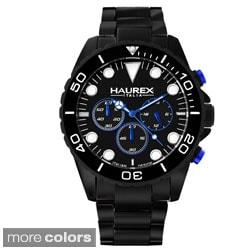 Haurex Men's 'Ink Chrono' Aluminum Chronograph Watch