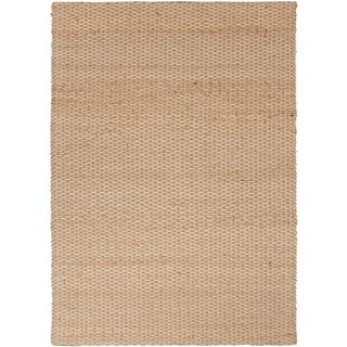 Handmade Naturals Solid-Pattern Brown Area Rug (5' x 8')