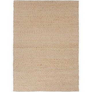 Handmade Naturals Brown Solid-pattern Area Rug (8' x 10')