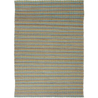 Handmade Naturals Solid Pattern Blue Rug (8' x 10')