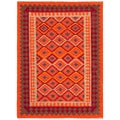Reversible Handmade Flatweave Tribal Pattern Multicolored Rug (5' x 8')