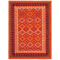 Handmade Flat Weave Tribal Pattern Multi Color Rug (8' x 10')