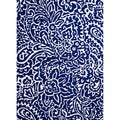 Hand-hooked Indoor/ Outdoor Abstract-pattern Blue Area Rug (7'6 x 9'6)