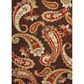 Hand-hooked Indoor/ Outdoor Abstract Pattern Brown Rug (5' x 7'6)