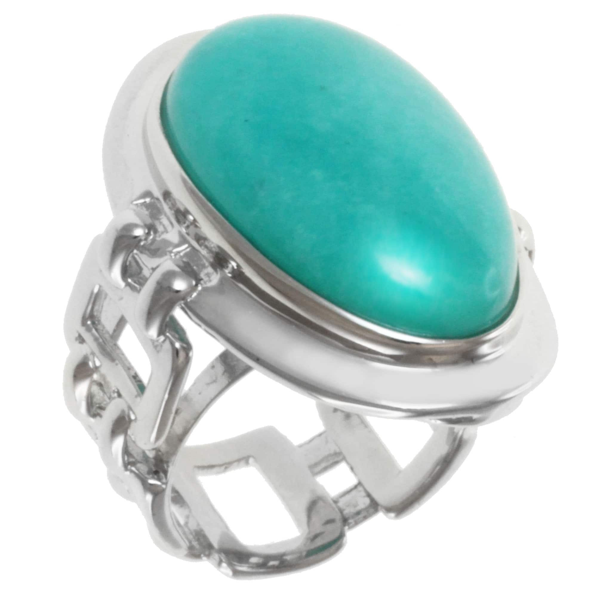Michael Valitutti Sterling Silver Amazonite Ring