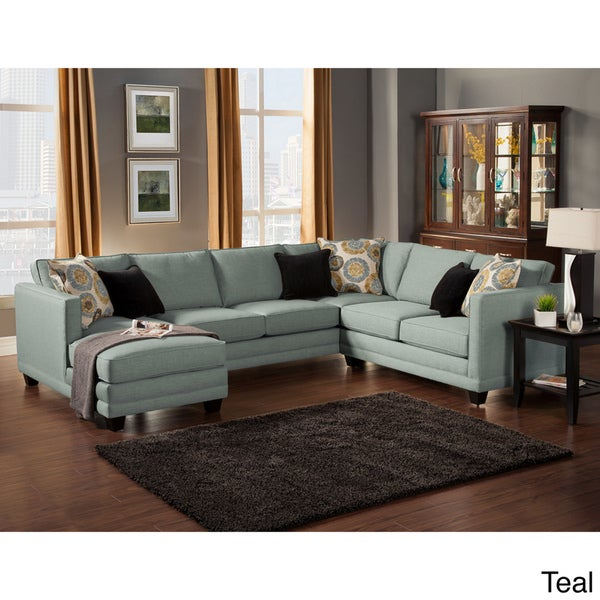 Furniture of America Zeal Lavish Contemporary 3 piece Fabric Uphols