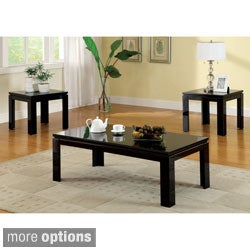 'Mio' 3-piece Contemporary High Gloss Lacquer Coffee/ End Table Set