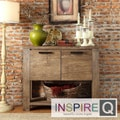 INSPIRE Q Catalpa Walnut Finish Weathered Console
