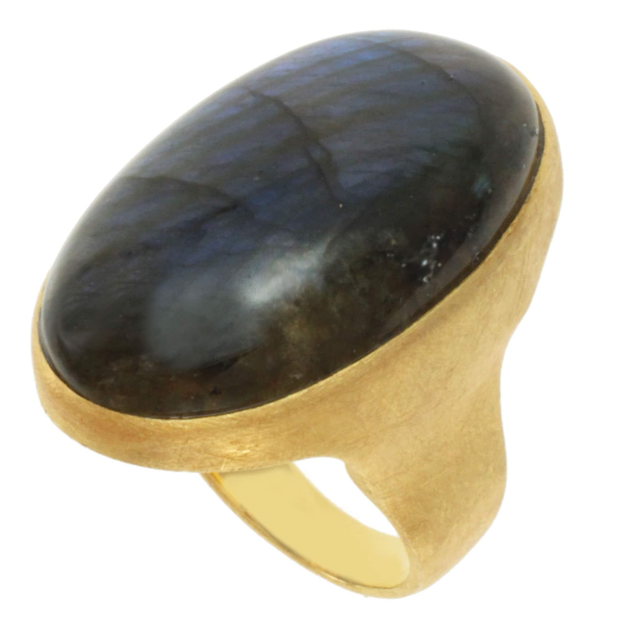 Michael Valitutti Gold over Silver Labradorite Ring