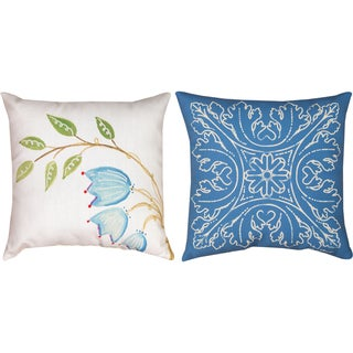 Indoor/ Outdoor Minasian Bird Decorative Throw Pillows (Set of 2)