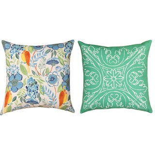 Indoor/ Outdoor Minasian Osa 18-inch Decorative Pillow Set (Set of 2)