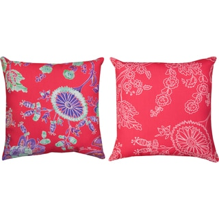 Indoor/ Outdoor 18-inch Decorative Throw Pillows (Set of 2)