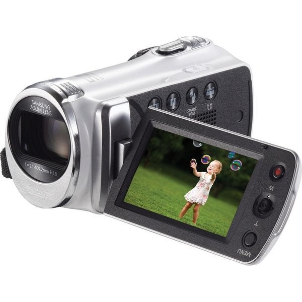 Samsung HMX-F90 High Definition White Camcorder