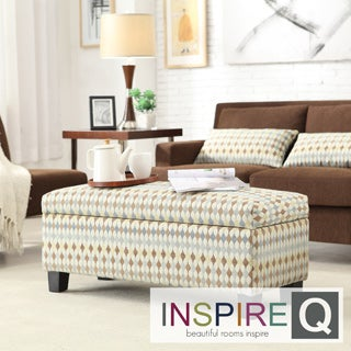 INSPIRE Q Sauganash Diamond Impressions Lift Top Storage Bench