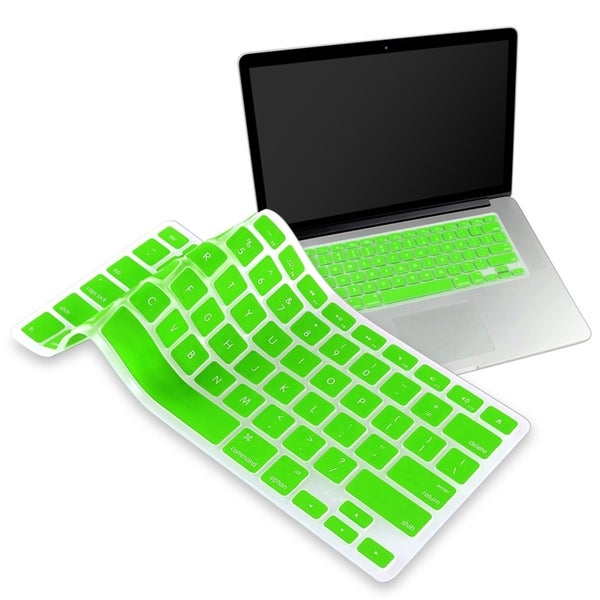 INSTEN Green Soft Silicone Keyboard Shield for Apple MacBook Pro 13-inch