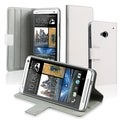 BasAcc White Leather Stand Case for HTC One M7