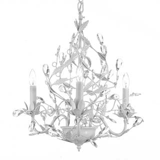 Gallery Wrought Iron Crystal Chandelier