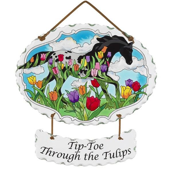 Joan Baker 'Tip-toe Through the Tulips' Suncatcher