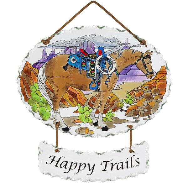 Joan Baker 'Happy Trails' Glass Art Panel