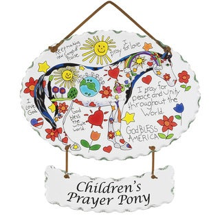 Joan Baker 'Children's Prayer Pony' Art Glass