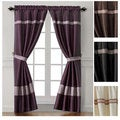 Soriano Embroidered 84-inch Curtain Panel Pair & Tiebacks