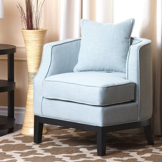 Abbyson Living Eve Blue Fabric Corner Chair