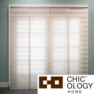 Chicology  Basket Natural Beige Double Rail Sliding Window Panels