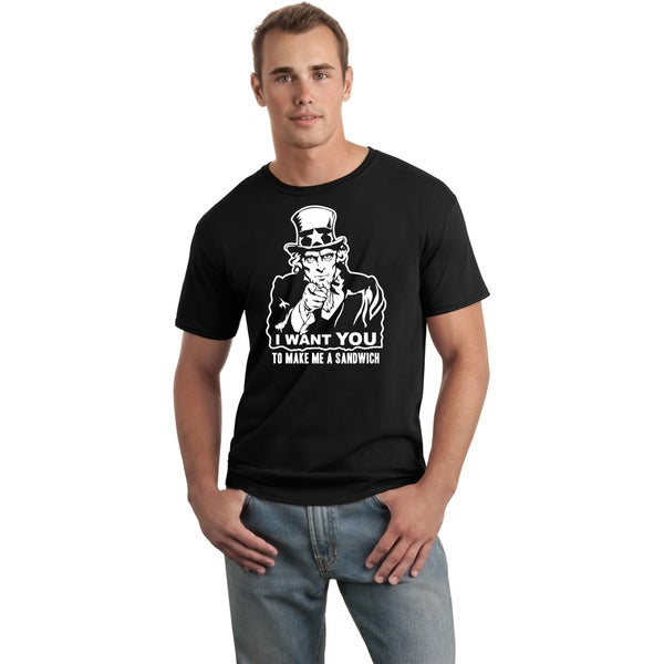 Men's 'I Want You' Uncle Sam Funny T-shirt