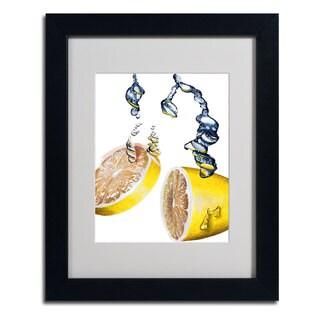 Roderick Stevens 'Lemon Splash II' Framed Matted Art