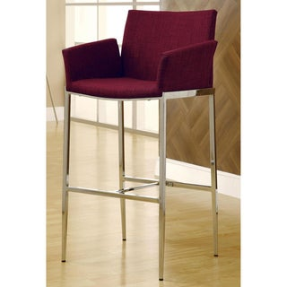 Soho Style Chrome Bar Stools (Set of 2)