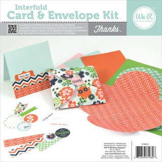 Interfold Card & Envelope Pads-Thanks