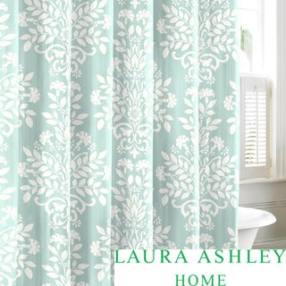 Laura Ashley Rowland Blue Cotton Shower Curtain