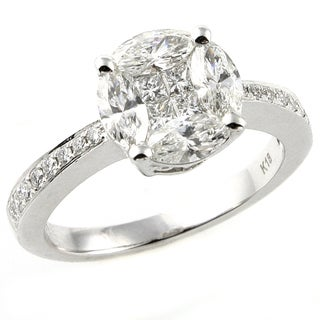 Beverly Hills Charm 14k Gold 1 1/5ct TDW Diamond Engagement Ring (H-I, I1)
