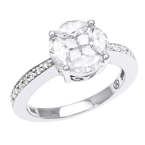 Beverly Hills Charm 14k Gold 1 1/5ct TDW Diamond Composite Engagement Ring (H-I, SI1-SI2)