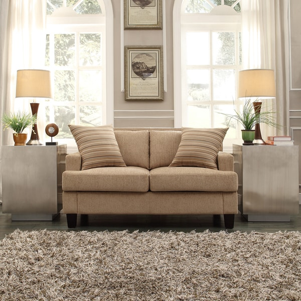 INSPIRE Q Park West Tan Chenille Loveseat