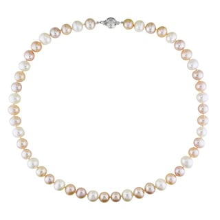 Miadora Multi-colored Freshwater Pearl Necklace (9-10 mm)