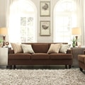 Kendrick Chocolate Chenille Track Arm Sofa