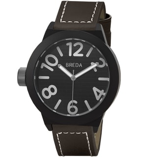 Breda Men's 'Jaxon' Black/ Brown Watch