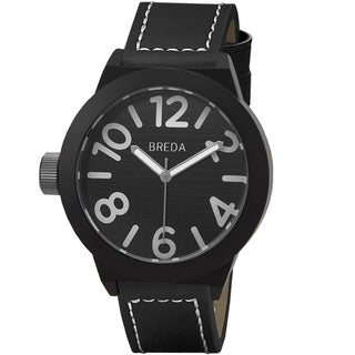 Breda Men's 'Jaxon' Black/ White Watch