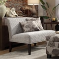 Kayla Grey Bracket Chain Armless Loveseat
