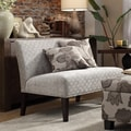 INSPIRE Q Wicker Park Grey Link Armless Loveseat