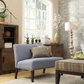 INSPIRE Q Wicker Park Light Blue Linen Armless Loveseat