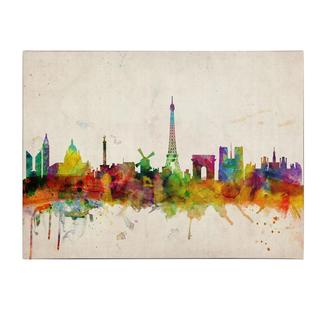 Michael Tompsett 'Paris Skyline' Canvas Art